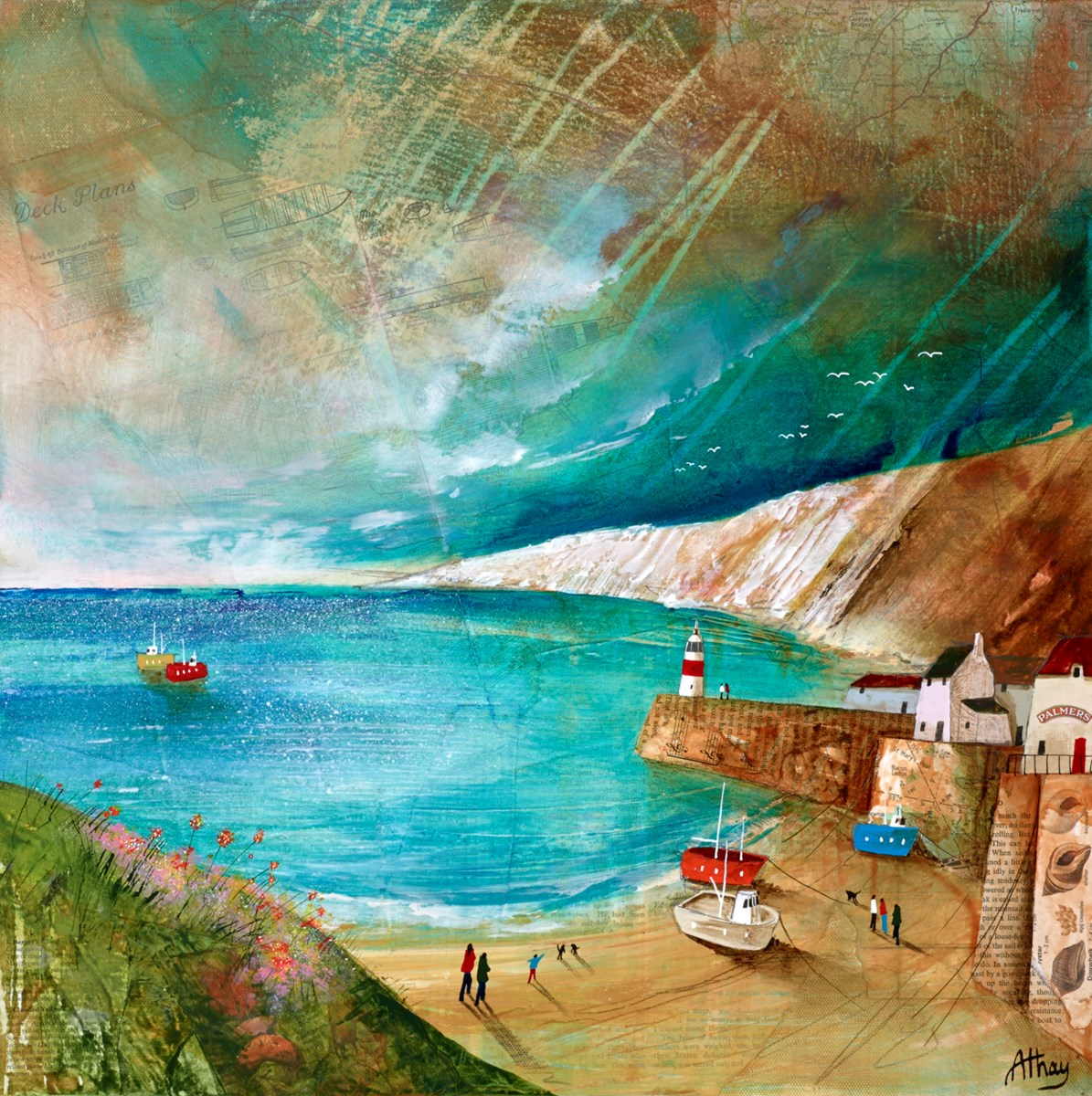 Seaside Music by keith athay -  sized 20x20 inches. Available from Whitewall Galleries